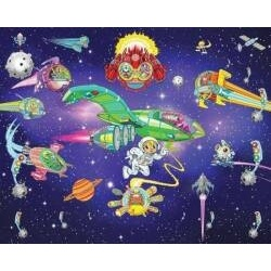 Walltastic Alien adventure 3D tapeta